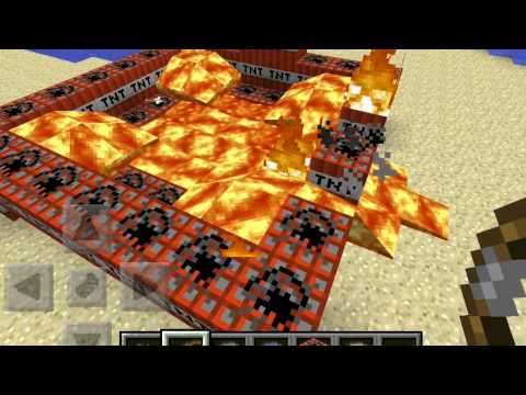 How to set fire to TNT in minecraft pe