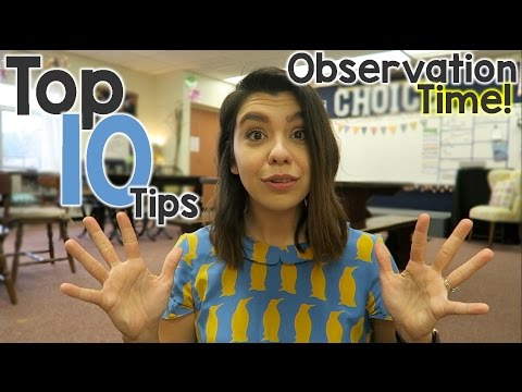 Top 10 Classroom Observation Tips