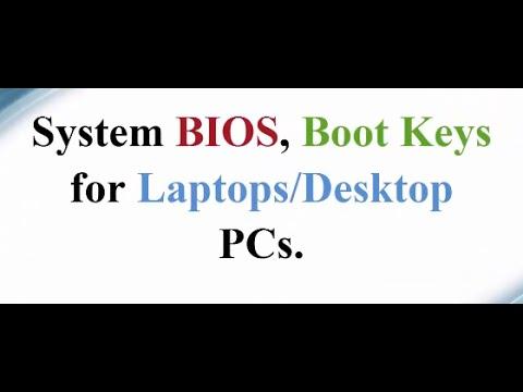 BIOS BOOT MENU FOR LAPTOP DESKTOP MAC
