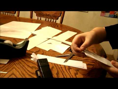 how to make an easy Assassins Creed hidden blade out of paper