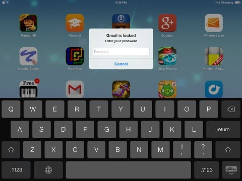 how to make a password for any app on your idevice