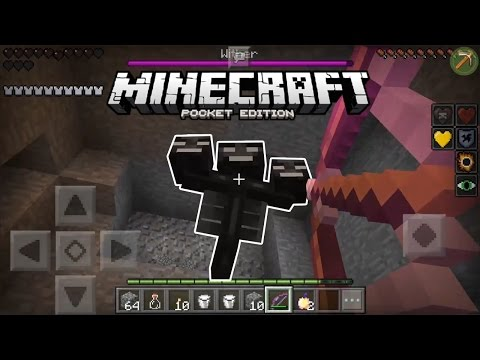 HOW to KILL WITHER in MINECRAFT PE
