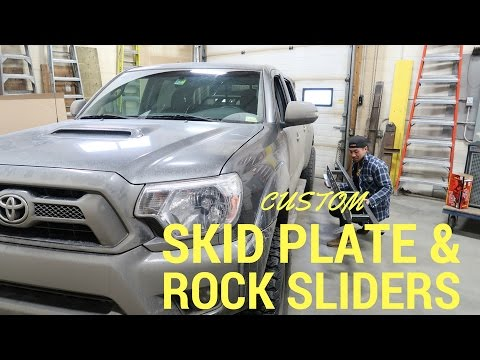Toyota Tacoma Custom Made Skid Plates and Rock Sliders