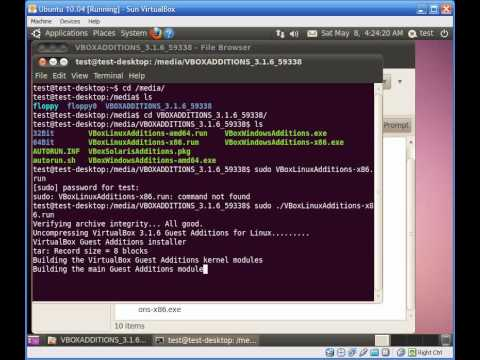 How to Install Guest Additions to Ubuntu 10.04