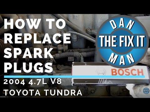 HOW TO REPLACE SPARK PLUGS -  2004 TOYOTA TUNDRA - BOSCH DOUBLE IRIDIUM - DIY