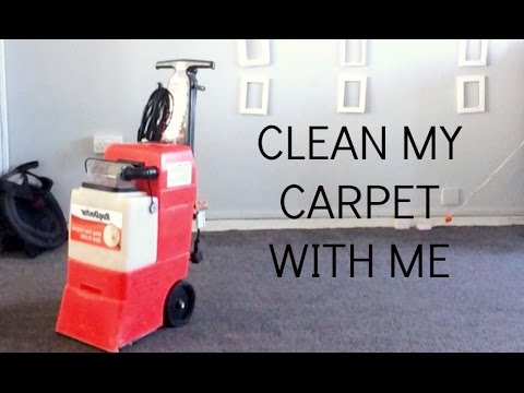 CLEAN MY CARPET WITH ME USING RUG DOCTOR CARPET CLEANER