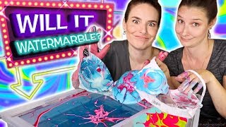 Will It Watermarble?! Sister Edition | Watermarbling 9 random objects in nail polish!