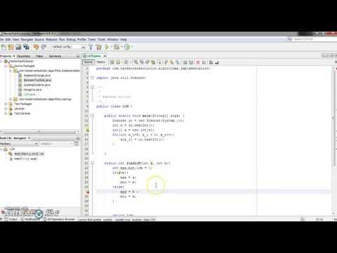 LCM - Least common Muliple - Java Version