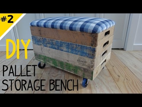 Build a Stackable Pallet Crate Storage Bench - Part 2 of 2
