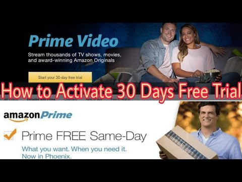 How to Get 30 Days Free trial of Amazon Prime video
