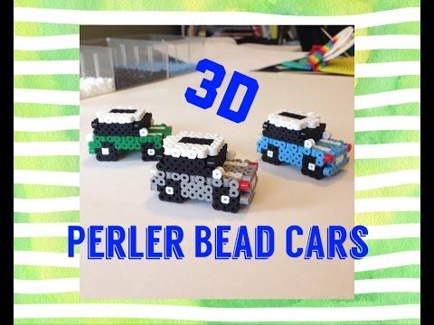 3D Perler Bead Car//Cute Mini Car Tutorial!!