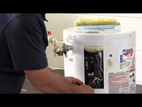 Mini-tank water heater element replacement