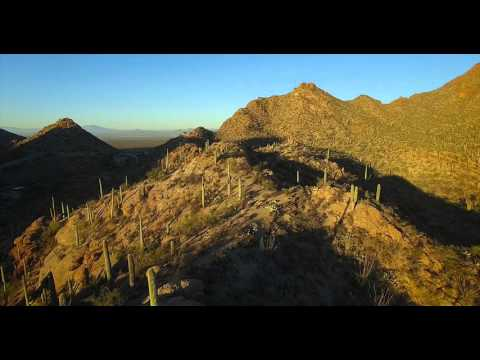 Tucson Mountain Park Sunrise by air