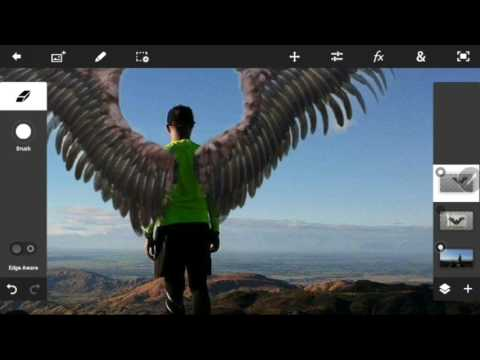 How To Add Wings using Photoshop for Android (Easy Way)