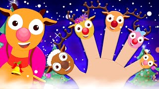 Reindeer Finger Family | Puckish Penny Christmas Videos | Christmas Vehicles Videos for Kids