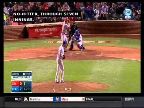 Jake Arrieta's one hitter Sept 16, 2014 tv highlights