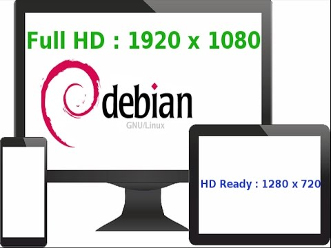How to Add And Change Screen Resolution on Debian GNU/Linux (FullHD Resolution) in Arabic