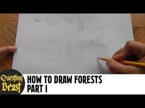 How to Draw Forests - Part 1: Fantasy Map Making Tutorial for D&D