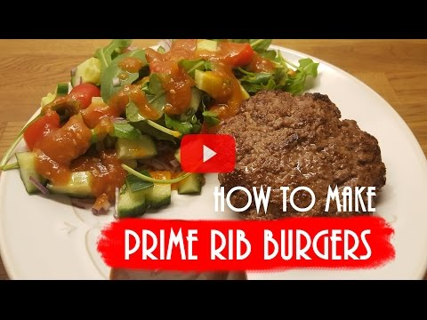 The secret of a perfect Prime Rib Burger Patty - How to make nordic food
