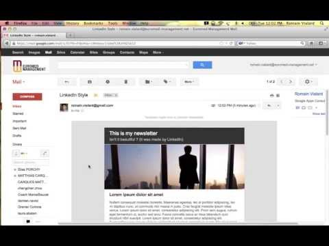 Newsletter creator