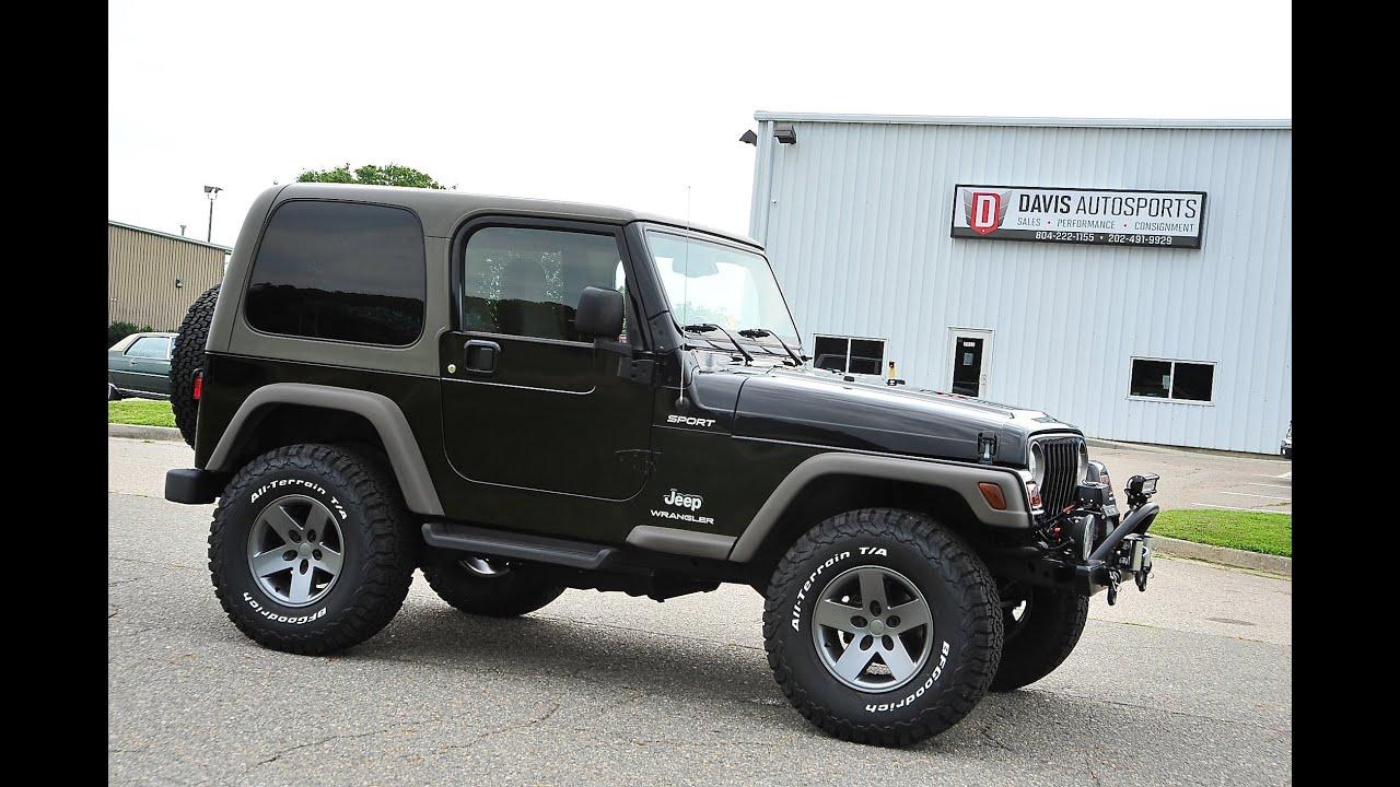 Davis AutoSports 2005 Jeep Wrangler Sport For Sale / New Lift, Wheels Tires, Etc / 84k / Pristine