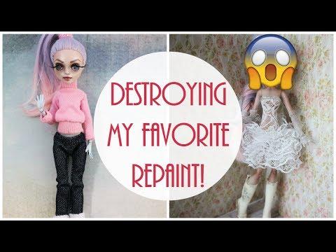 Monster High Doll Repaint / How to customize BJD Easy / OOAK Custom Barbie DIY Handmade Tutorial