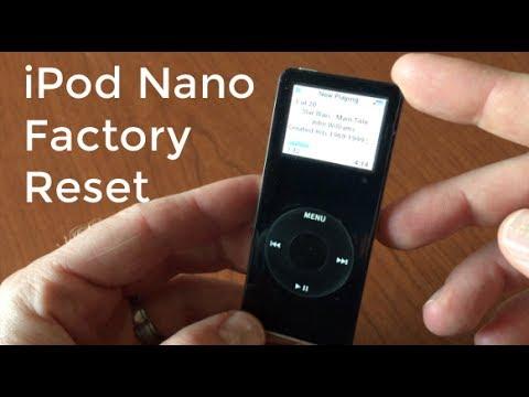 How to Factory Reset iPod Nano 1st Gen- Reset Data