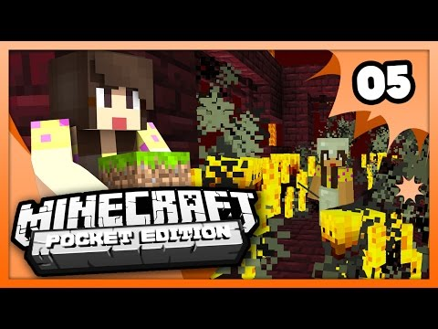Minecraft PE (Pocket Edition) - FIRST TRIP TO THE NETHER! - Ep 5 -