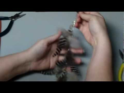 How To Make Long Feather Hair Clips