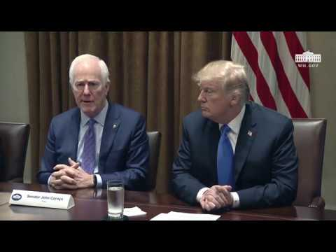 President Trump Meets with Bipartisan Members of Congress to Discuss School and Community Safety