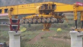 Awesome !!!  Bridge Girder Erection Monster Machine ..