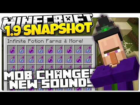 Minecraft 1.9 Snapshot   INFINITE POTION FARMS   More Mob Changes   New Sounds (Minecraft 1.9 News)