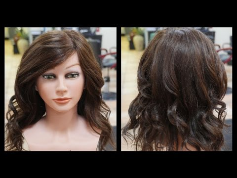Soft Waves with a Curling Iron & Ponytails -TheSalonGuy