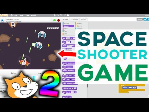 Scratch Tutorial: Awesome Space Shooter Game! [Part 2]