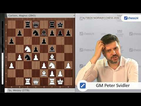 So-Carlsen - Svidler's Norway Chess 2018 Game of the Day