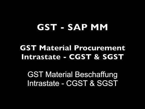 SAP MM - Material Procurement Intrastate   CGST & SGST