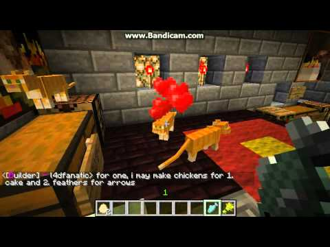 Minecraft Cats & Kittens. Cat Love Hearts :) How to breed baby with Raw Fish