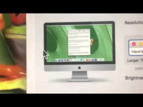 Apple iMac Computer - enlarge screen display
