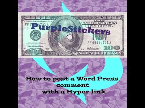 How to make a hyper link in a Wordpress comment section