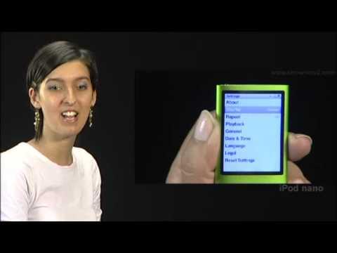 New iPod Nano - How to set to shuffle music from main menu setting  in iPod Nano