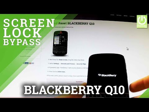 Hard Reset BLACKBERRY Q10 - Bypass Password in BLACKBERRY