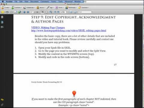 Ebook Formatting Kit 3.0 - Page changes, adding images, reordering pages (Video 8) Feb 2012