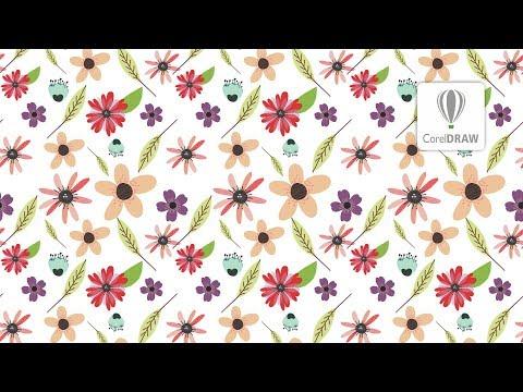 Floral pattern in coreldraw   seamless pattern   CorelDraw Tutorails for Beginners