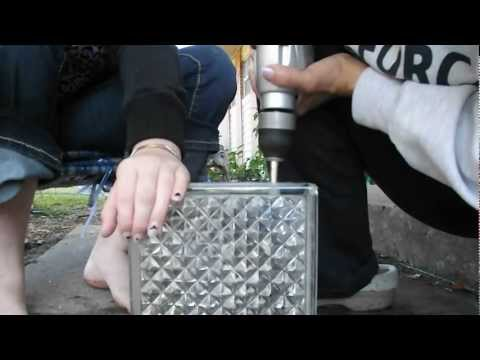 How to drill a hole in a glass block