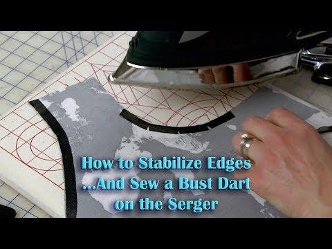 Anna Dress  Stabilize Edges and Serger Bust Darts