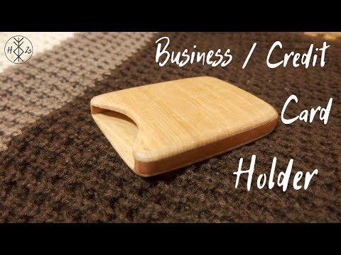Wooden Business/Credit Card Holder