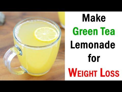 How to make green tea lemonade for Weight Loss - green tea weight loss recipes