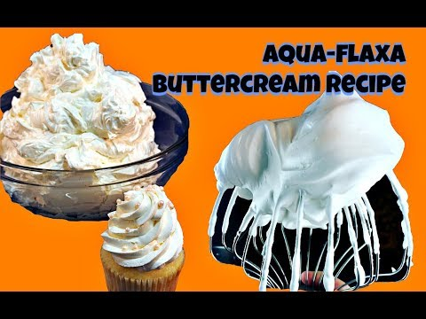 AquaFLAXA Swiss Buttercream Recipe || Gretchen's Bakery