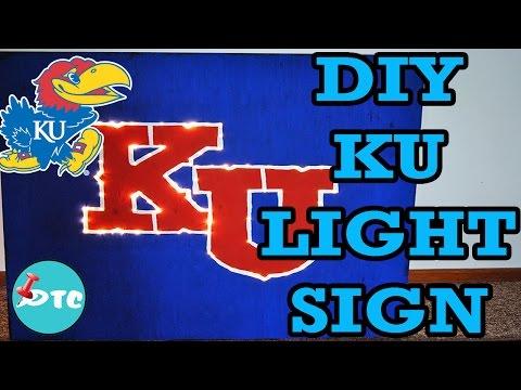 How to Make a DIY KU Light Sign