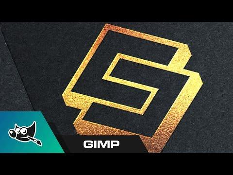 GIMP Tutorial: Gold Foil Logo Mockup